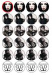 24 x Black Veil Brides Edible Wafer Rice Paper Cup Cake Top Toppers